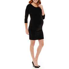 Planet Motherhood 3/4 Sleeve Fitted Gown-Maternity