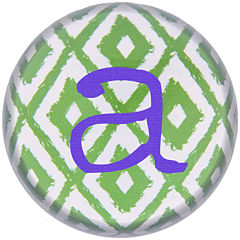 Cathy's Concepts Ikat Personalized Domed Glass Paperweight