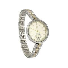 Daisy Fuentes Womens Two Tone Bracelet Watch-Df115ttgd