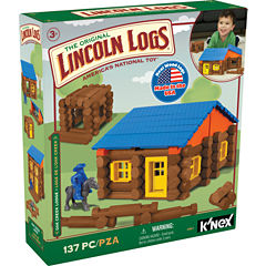 LINCOLN LOGS – Oak Creek Lodge – 137 Pieces - Ages 3+ - Preschool Education Toy