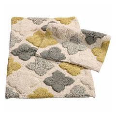 Alloy Moroccan Tiles 2 Piece Bath Rug Set