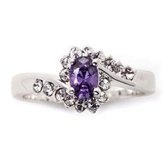 Sparkle Allure Purple Cocktail Ring