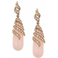 1 CT. T.W. Pink Opal 10K Gold Drop Earrings