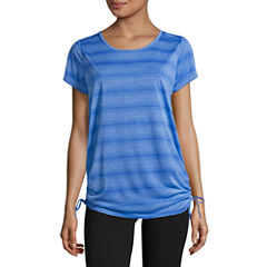 Made For Life Short Sleeve Side Tie Knit Tee