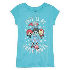 Super Heros Cute T-Shirt- Girls' 7-16