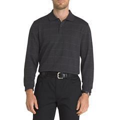 Van Heusen Long Sleeve Jaspe Windowpane Polo