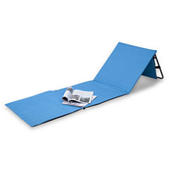 Danya B. Set of 2 Portable Beach Lounge Chairs with Pockets and Carry Straps