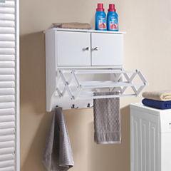 Danya B. Accordion Wall Mount Drying Rack with Cabinet