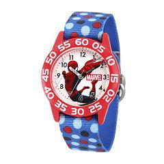 Marvel® Spiderman Boys Blue Strap Watch