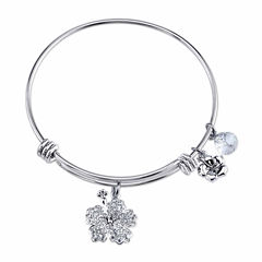 Disney Womens Lilo & Stitch Silver Over Brass Charm Bracelet