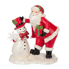 Midwest Cannon Falls Snowman And Santa Figurine