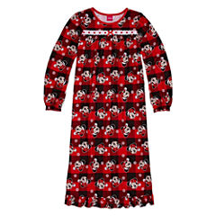 Disney Long Sleeve Minnie Mouse Nightgown-Big Kid Girls