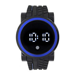 Mens Black Strap Watch-33555