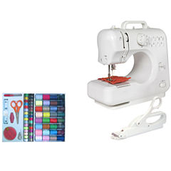 Michley LSS505 Mini Sewing Machine + Electric Scissors & 100-pc. Sewing Kit