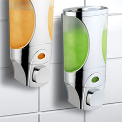 HotelSpa® Curves Luxury Soap/Shampoo/Lotion Modular-Design Shower Dispenser System Pack of 2