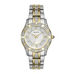 Bulova® Womens Crystal 2-Tone Watch 98L135