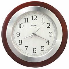 Bulova Reedham White Wall Clock-C4228