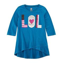 TG 3/4 Sleeve Flip Sequin Tunic - Girls' 7-16 & Plus