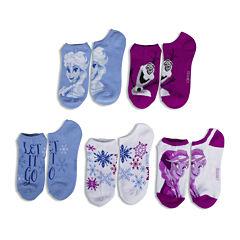 Disney Frozen Womens 5-pk. No-Show Socks
