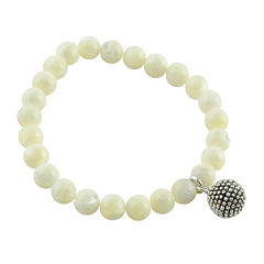 Art Smith by BARSE Genuine Mother-of-Pearl Charm Stretch Bracelet