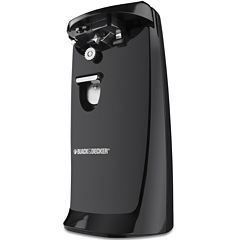 Black+Decker EC475B2 Hands Free Can Opener With Knife Sharpener
