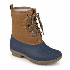 Journee Kids Lace Up Boots - Little Kids