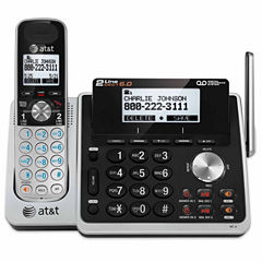AT&T TL88102 DECT 6.0 2-Line Cordless Answering System with Caller ID/Call Waiting