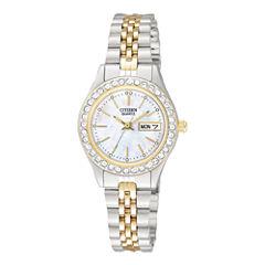 Citizen® Womens Two-Tone Stainless Steel Bracelet Watch EQ0534-50D
