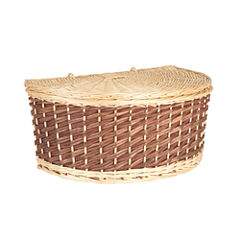 Household Essentials Halfmoon Wicker Basket