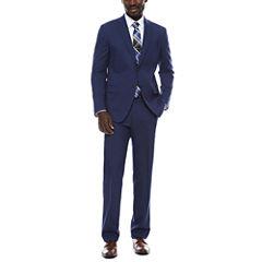JF J. Ferrar Blue Micro Check Suit Separates-Slim