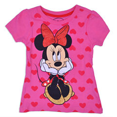 Disney Minnie Mouse Graphic T-Shirt-Toddler Girls