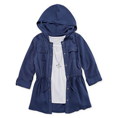 Knit Works 3/4 Sleeve Anorak Jacket and Tank - Girls' 7-16