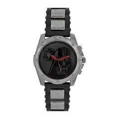 Star Wars® Mens Black Red Strap Watch