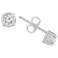 1/2 CT. T.W. Diamond 10K White Gold Stud Earrings