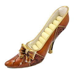 Brown Bow Shoe Ring Holder