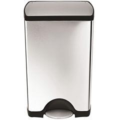 simplehuman® 38-Liter Rectangular Stainless Steel Step Trash Can