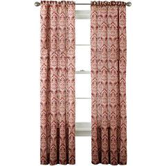 Royal Velvet® Hilton Damask Rod-Pocket Curtain Panel
