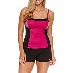 Nike ® Color Surge Tankini or Solid Swim Shorts