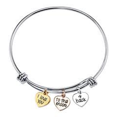 Inspired Moments™ Sterling Silver Expandable Bangle