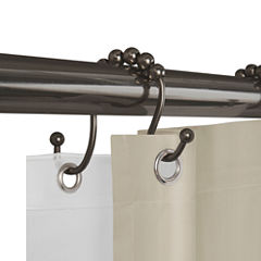 Maytex Mills Luminex Open Double Glide Shower Curtain Hooks