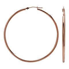 Narrow Hoop Earrings 14K Rose Gold