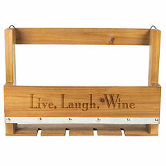 Cathy's Concepts Personalized Rustic Wall Mounted Wine Rack