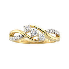 ⅓ CT. T.W. Diamond 3-Stone Promise Ring