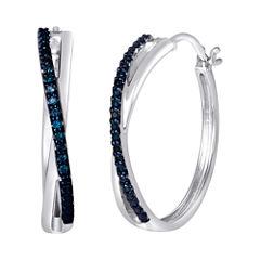 1/10 CT. T.W. Color-Enhanced Blue Diamond