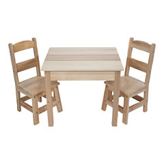 Melissa & Doug® Wooden Table & Chairs - Natural