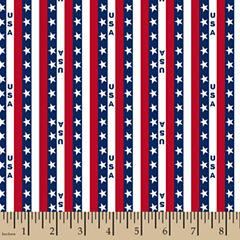 Patriotic Usa Stripe Cotton Fabric