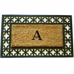 Monogram Cross Rectangle Doormat - 18
