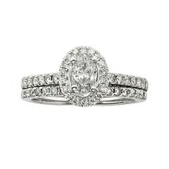 Certified Diamond 1 CT. T.W. Certified Diamond 14K White Gold Bridal Set