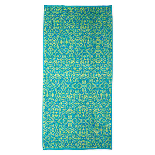 Outdoor Oasis Mosaic Tile 34x68 Jacquard Beach Towel