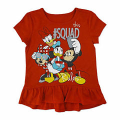 Disney By Okie Dokie Minnie Mouse Graphic T-Shirt-Toddler Girls